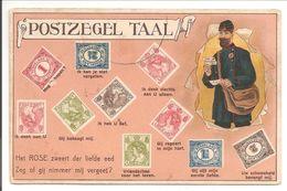 Postzegeltaal. Type Vürthheim + Bontkraag + Postbode-Facteur - Postzegels (afbeeldingen)