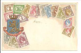 Je Maintiendrai. Type Vürthheim + Bontkraag +Wapen. Reliëfdruk. Frankering 2x 1/2 Ct Vürtheim - Postzegels (afbeeldingen)