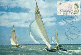 D31056 CARTE MAXIMUM CARD 1966 BAHAMAS - YACHTING SAILING CP ORIGINAL - Sailing
