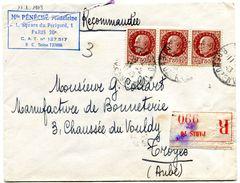 PARIS 70 Env. . Recommandée Du 11/02/1943 - Marcophilie (Lettres)
