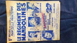 LE REGIMENT DES MANDOLINES- MANDOLINE-LILY FAYOL-JACQUES HELIAN-ADRIEN ADRIUS-CLAIRETTE-HILAIRE & HENRI-BATIFOL PARIS - Partitions Musicales Anciennes