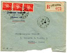 GIRONDE De LIBOURNE   Env.   Recommandée  Du 28/10/1941 - Marcophilie (Lettres)