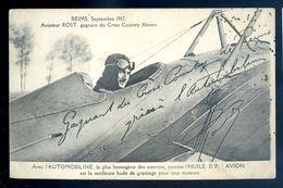 Cpa Aviateur Rost Gagnant Cross Country Aérien -- Reims 1913  Sep17-13 - Airmen, Fliers