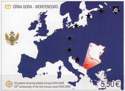 Landkarte 50 Years CEPT 2006 Montenegro Block 3 ** 24€ Imperforiert Ms Bloc Stamps On Stamp Map S/s Sheet Bf EUROPA - Montenegro