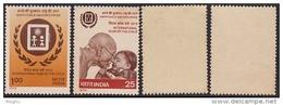 India MNH 1979, Set Of 2, International Year Of Child, Gandhi & Kinder, As Scan - Neufs