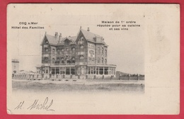 De Haan / Coq S /Mer - Hôtel Des Familles - 1904 ( Verso Zien ) - De Haan