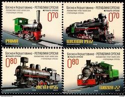Bosnia & Herzegovina - Republika Srpska - 2009 - Narrow Gauge Locomotives - Mint Stamp Set - Bosnië En Herzegovina