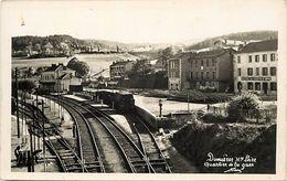 -depts Div.-ref-TT192- Haute Loire - Dunieres -quartier Gare - Ligne De Chemin De Fer - Train - Trains - Hotel De France - Andere Gemeenten