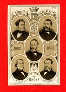 Chromo Imp. Guyard, Députés Du Rhône, Corps Législatif 1863-1868, Favre, Terme, Hénon, Perras, Descours - Other