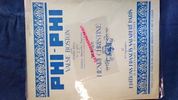 PARTITION MUSICALE-PHI-PHI-VALSE BOSTON POUR PIANO- OPERETTE -WILLEMETZ -SOLLAR-HENRI CHRISTINE-FRANCIS SALABERT PARIS - Scores & Partitions