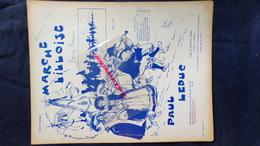 PARTITION MUSICALE-LILLE- MARCHE LILLOISE POUR PIANO-PAUL LEDUC-ALBERT DELAHEGUE- DEMETS PARIS- IMPRIMERIE C.G. RODER-59 - Scores & Partitions