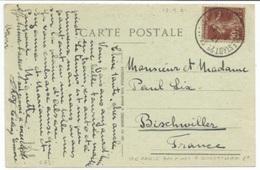 C631 - Ambulant STE MARIE AUX MINES A SCHLESTADT 2° - Septembre 1921 - - Marcophilie (Lettres)