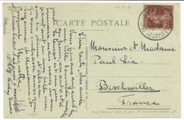 C631 - Ambulant STE MARIE AUX MINES A SCHLESTADT 2° - Septembre 1921 - - Postmark Collection (Covers)