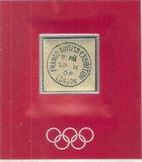 JO Londres 1908 - Timbre Plaquette Souvenir En OR (à Voir) RR - Verano 1908: Londres