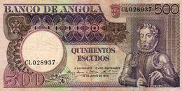 BANCONOTA ANGOLA-500 ESCUDOS -1973 P-107 - Angola