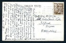 JAS B56 Spain 50x Yr Postcard Used Hotel In Mallorca - Cartes Postales