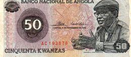 BANCONOTA ANGOLA-50 ESCUDOS -1976 P-110 - Angola