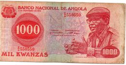BANCONOTA ANGOLA-1000 KWANZAS -1979 P-117 - Angola