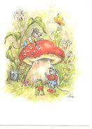 Illustrator - Lore Hummel  - Gnom, Gnome,lutin, Zwerg, Toadstool, Funghi, Champignon, Painting, Frog, Mouse - Altre Illustrazioni