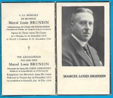 Souvenir Pieux De Marcel Louis Brunein -  Furnes - Courtrai - 1874 - 1936 - Images Religieuses