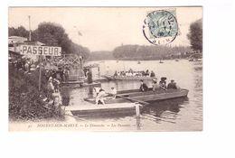 94 Nogent Sur Marne Le Dimanche Les Passeurs Cpa Animée Cachet 1906 - Nogent Sur Marne