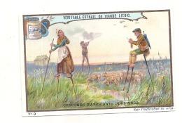 ------  LIEBIG -   Costumes D'anciennes Provinces Numéro 3 Berger Landes Un Peu Retaillé Voir Scan - Liebig