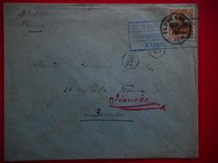 BRIEF VAN FLORENNES 1918 >BXL CENSUUR TE FLORENNES - Weltkrieg 1914-18