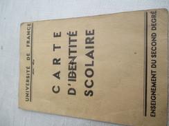Carte D'identité Scolaire/Enseignement Du Second Degré/Institut Gay-Lussaqc/Paris/Lib. Gibert/ Université/ 1938    AEC78 - Documentos Antiguos
