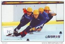 Telecarte PATINAGE Schaatsen Japan (75) EISLAUF SPEEDSKATING SKATING Phonecard Japon - Sport