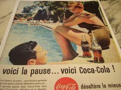 ANCIENNE PUBLICITE VOICI LA PAUSE COCA COLA 1961 - Affiches