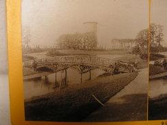 Carte Photo Stereo Stereoscopique  Pays Bas Hollande Groningue Vue Dans Le Parc  N° 110 - Photos Stéréoscopiques