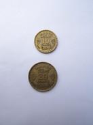 2 Pièces 20-et-10 Francs Protectorat-Français 1371/1952-MAROC-( Morocco ) - Marruecos