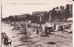 44 SAINT NAZAIRE -- La Plage Animée Devant Le Monument Aux Morts - Saint Nazaire