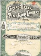Action Ancienne - Le Grand Bazar De La Place Saint-Lambert - Liège - Titre De 1924 - Textiel