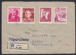 Yugoslavia Slovenia 1951 Uprising In Bosnia, Recommended Letter Sent From Gustanj To Vrsac - 1945-1992 Socialist Federal Republic Of Yugoslavia