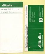 Alitalia Avion Flight Carta D'imbarco Biglietto 1977 Volo Roma Napoli Roma - Transportation Tickets