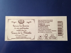 (2017) - Carnet 12 VP / Lettre Prioritaire - Les Fleurons De Notre Patrimoine Réédités Dans Les Trésors De La Philatélie - 2013-... Marianne Di Ciappa-Kawena