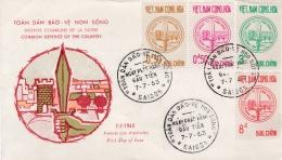 VIETNAM DU SUD :   Défense De La Patrie . 1er Jour De Saïgon Du 07 07 1963 - Viêt-Nam