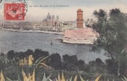 FRANCE : Semeuse 10 C Rouge Perforé CL Sur Carte Postale De Marseille - 1921-1960: Periodo Moderno