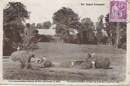 LES FOINS POSTEE DE BONNAT EN 1936 EDIT. M.F.A. - Autres Communes