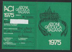 BU538   Tessera  Azione Cattolica Italiana  1975 - Historical Documents