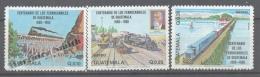 Guatemala 1983 Yvert A 762-64, Centenary Of Guatemela Railways - Air Mail - MNH - Guatemala