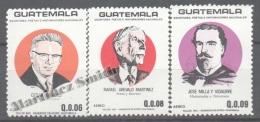 Guatemala 1987 Yvert A 817-19, National Writers, Poets And Historians - Air Mail - MNH - Guatemala