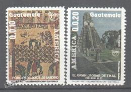 Guatemala 1988 Yvert A 829-30, America UPAEP - Air Mail - MNH - Guatemala