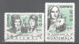 Guatemala 1992 Yvert A 839-40, America UPAEP - Air Mail - MNH - Guatemala