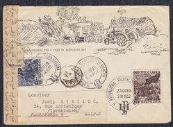 Yugoslavia 1952 Communist Party Congress, Letter Sent From Zagreb To Alexandria - 1945-1992 Socialist Federal Republic Of Yugoslavia