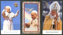 SANTINO - Papa Giovanni Paolo II - 3 Santini, Con Preghiera, Come Da Scansione. - Images Religieuses