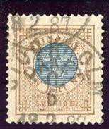 SWEDEN 1878 1 Kr. EN KRONA  Used  Michel 27 - Used Stamps