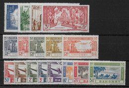 DAHOMEY -  YVERT N°1/17 ** POSTE AERIENNE COMPLETE - COTE = 17 EUROS - - Dahomey (1899-1944)
