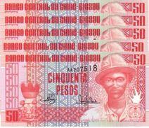 GUINEA BISSAU 50 PESOS 1990 P-10 UNC 5 PCS  [GW201a] - Guinea-Bissau
